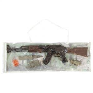تفنگ اسباب بازی کلاش توپ پران کیفی